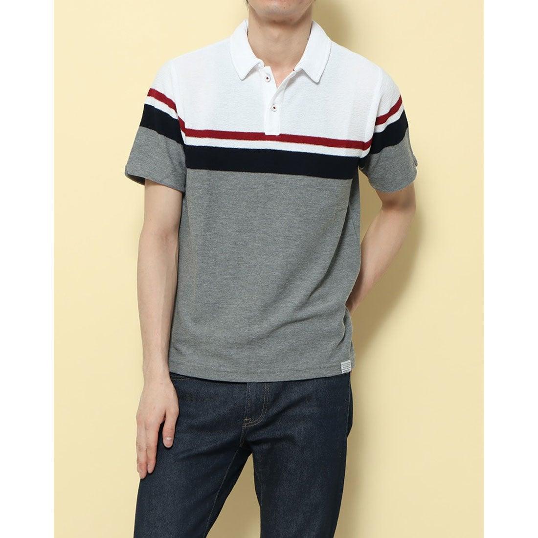 ロコンド 靴とファッションの通販サイトスタイルブロック STYLEBLOCK スラブタック天竺パネルラインポロシャツ (オフ)