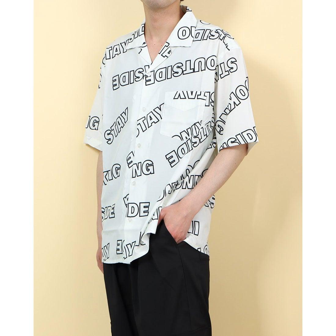 ロコンド 靴とファッションの通販サイトスタイルブロック STYLEBLOCK 総柄プリントオープンシャツ (ロゴ1)