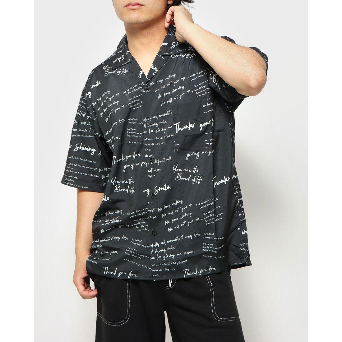 ロコンド 靴とファッションの通販サイトスタイルブロック STYLEBLOCK 総柄プリントオープンシャツ (ロゴ2)
