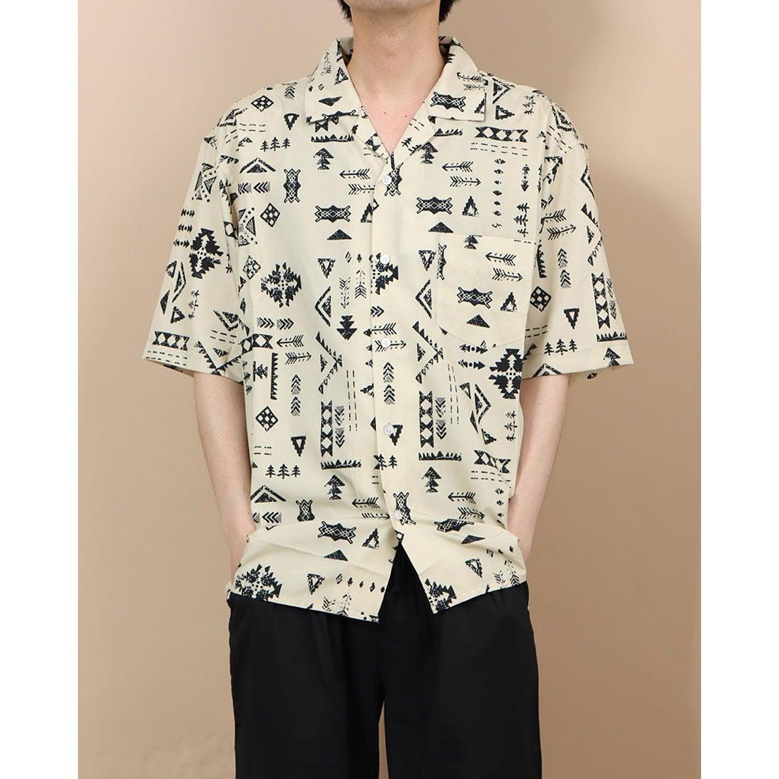ロコンド 靴とファッションの通販サイトスタイルブロック STYLEBLOCK 総柄プリントオープンシャツ (エスニック2)