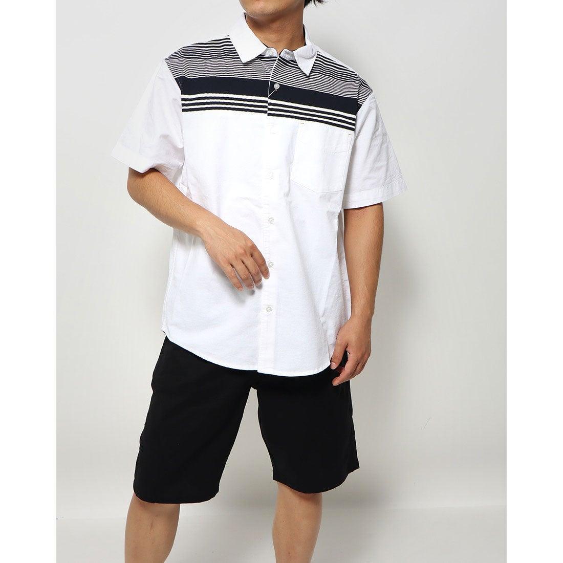 ロコンド 靴とファッションの通販サイトスタイルブロック STYLEBLOCK オックスボーダー切替シャツ (オフホワイト)