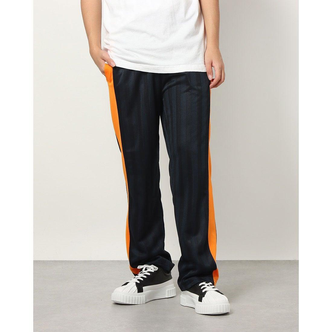 ロコンド 靴とファッションの通販サイトスタイルブロック STYLEBLOCK シャドーストライプジャージパンツ (ネイビー×オレンジ)