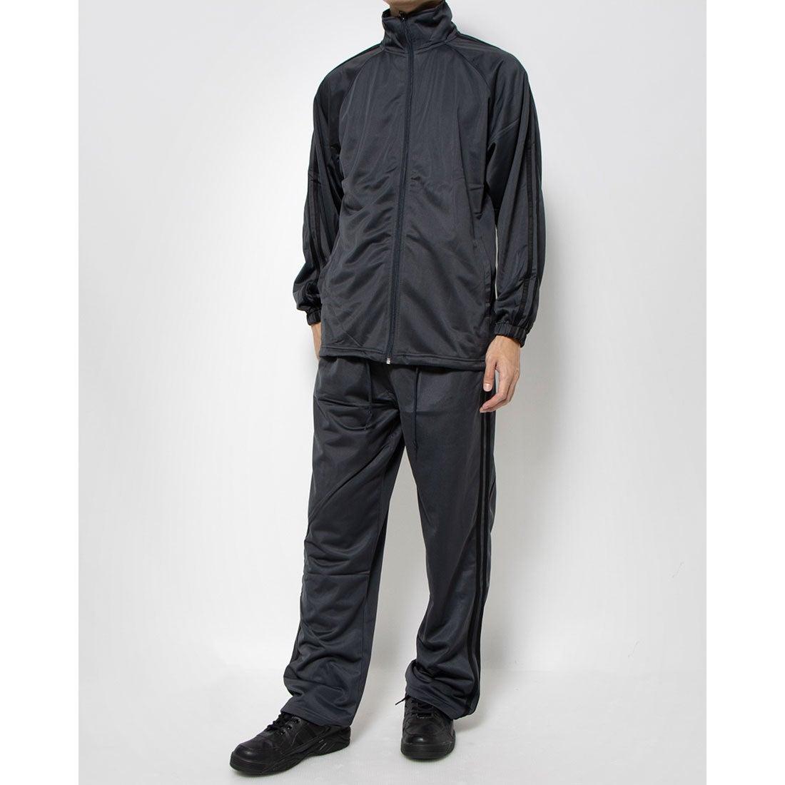ロコンド 靴とファッションの通販サイトスタイルブロック STYLEBLOCK トリコット2ラインジャージ上下セット (チャコール×ブラック)