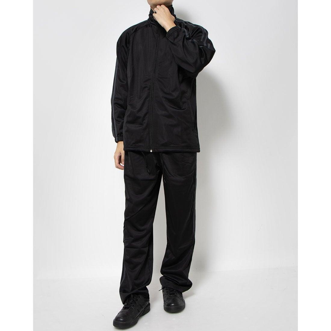 ロコンド 靴とファッションの通販サイトスタイルブロック STYLEBLOCK トリコット2ラインジャージ上下セット (ブラック×チャコール)