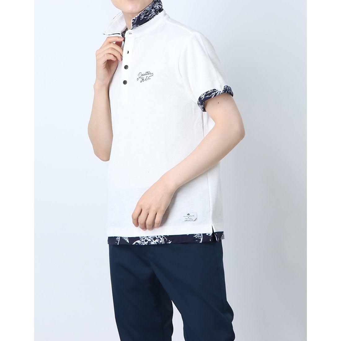 ロコンド 靴とファッションの通販サイトスタイルブロック STYLEBLOCK スラブカノコフェイクレイヤードポロシャツ (オフホワイト)