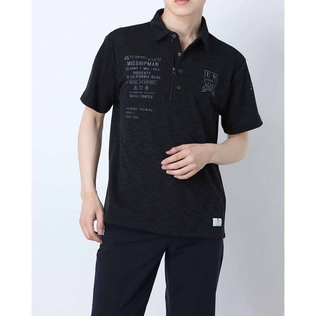 ロコンド 靴とファッションの通販サイトスタイルブロック STYLEBLOCK スラブカノコミリタリーポロシャツ (ブラック)