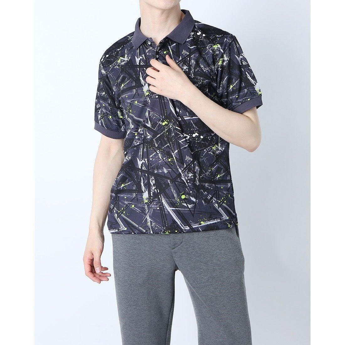 ロコンド 靴とファッションの通販サイトスタイルブロック STYLEBLOCK 総柄ドライポロシャツ (C)