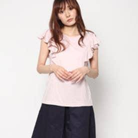 スタイルブロック STYLEBLOCK ラッフルスリーブTシャツ (ピンク)