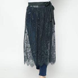 スタイルブロック STYLEBLOCK スカラップレースラップスカート (グリーン)