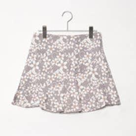 スタイルブロック STYLEBLOCK 花柄フレアスカート (キャメル)