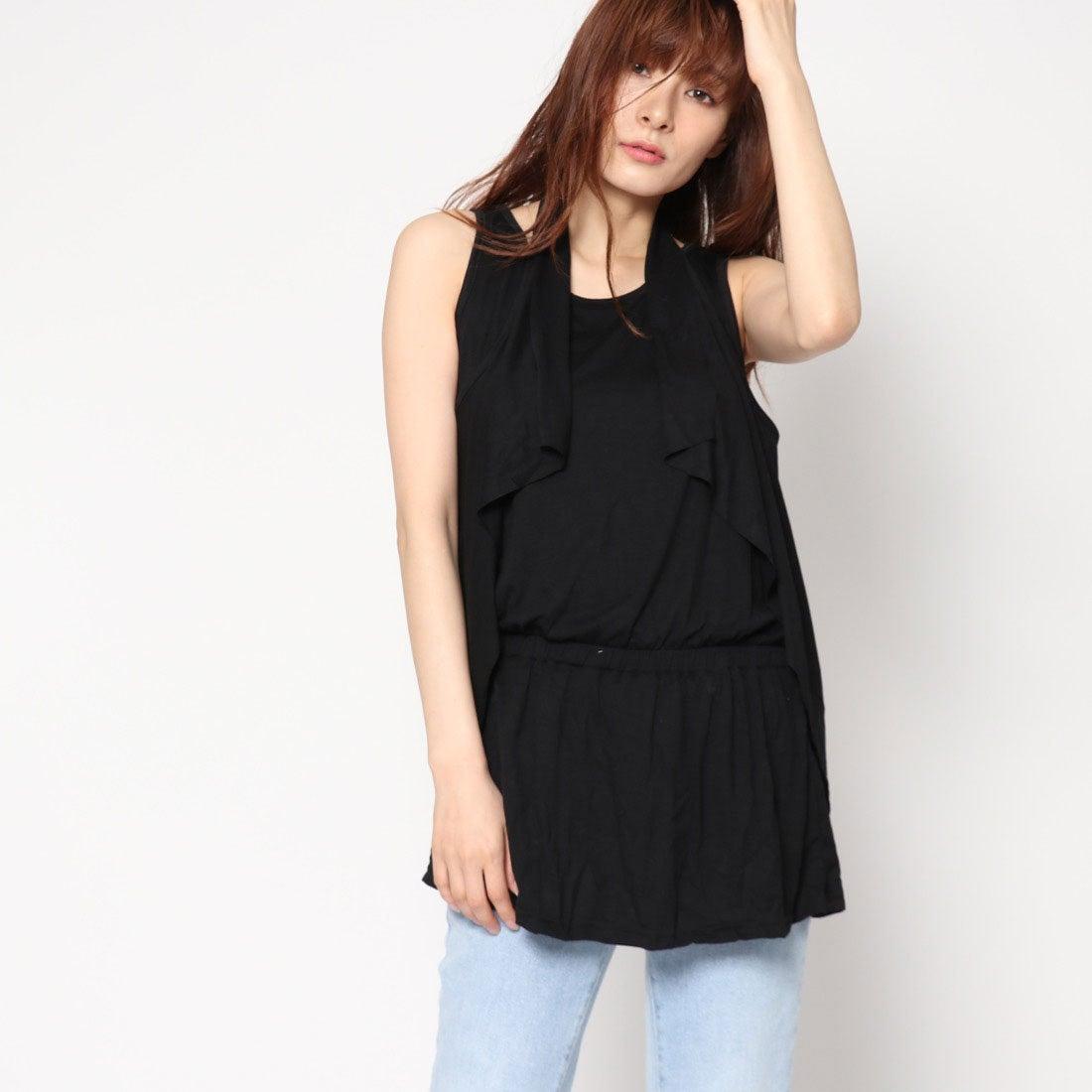 ロコンド 靴とファッションの通販サイトスタイルブロック STYLEBLOCK ドレープミニワンピース (ブラック)