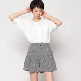 スタイルブロック STYLEBLOCK ホワイトシャツ&ストライプショートパンツセットアップ (ホワイト)