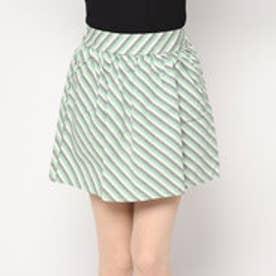 スタイルブロック STYLEBLOCK ストライプミニスカート (グリーン)