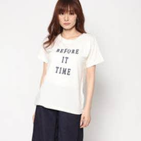 スタイルブロック STYLEBLOCK フロッキープリントTシャツ (アイボリー)