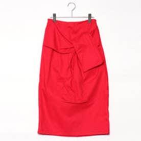 スタイルブロック STYLEBLOCK 綿ツイルタイトスカート (レッド)