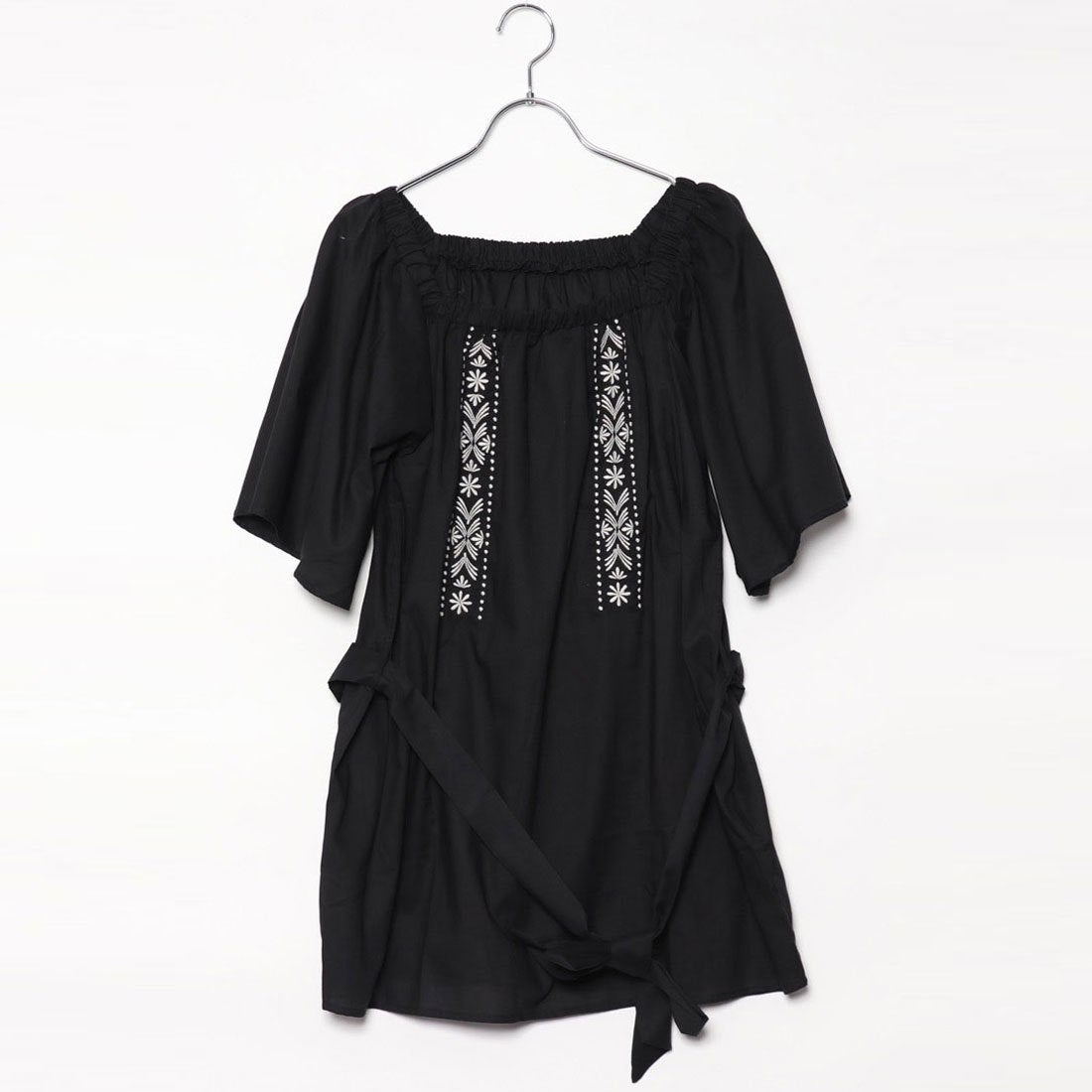ロコンド 靴とファッションの通販サイトスタイルブロック STYLEBLOCK ローン刺繍入りチュニック (ブラック)