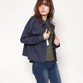 スタイルブロック STYLEBLOCK 綿ツイルミリタリーシャツ (ネイビー)