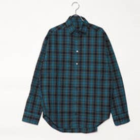 スタイルブロック STYLEBLOCK 先染めチェックビッグシャツ (ターコイズ)