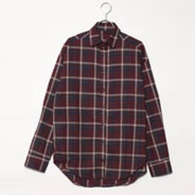 スタイルブロック STYLEBLOCK 先染めチェックビッグシャツ (ブラウン)