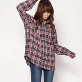 スタイルブロック STYLEBLOCK 先染めチェックビッグシャツ (ネイビー)
