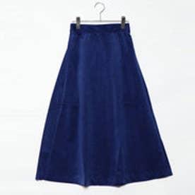 スタイルブロック STYLEBLOCK 別珍フレアスカート (ブルー)