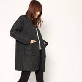 スタイルブロック STYLEBLOCK 高密度タフタキルティングコート (ブラック)