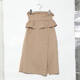 スタイルブロック STYLEBLOCK ツイルコルセットベルト付きスカート (ベージュ)