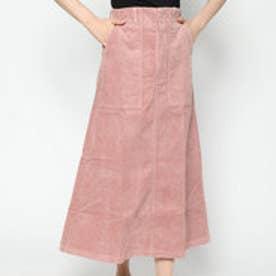 スタイルブロック STYLEBLOCK コーデュロイロングスカート (ピンク)
