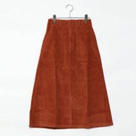 スタイルブロック STYLEBLOCK コーデュロイロングスカート (オレンジ)
