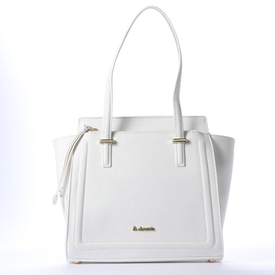 7b67f15902c4 & chouette &シュエット スクエアソフトエコレザーハンドバッグ(ホワイト) -靴&ファッション通販 ロコンド〜自宅で試着、気軽に返品