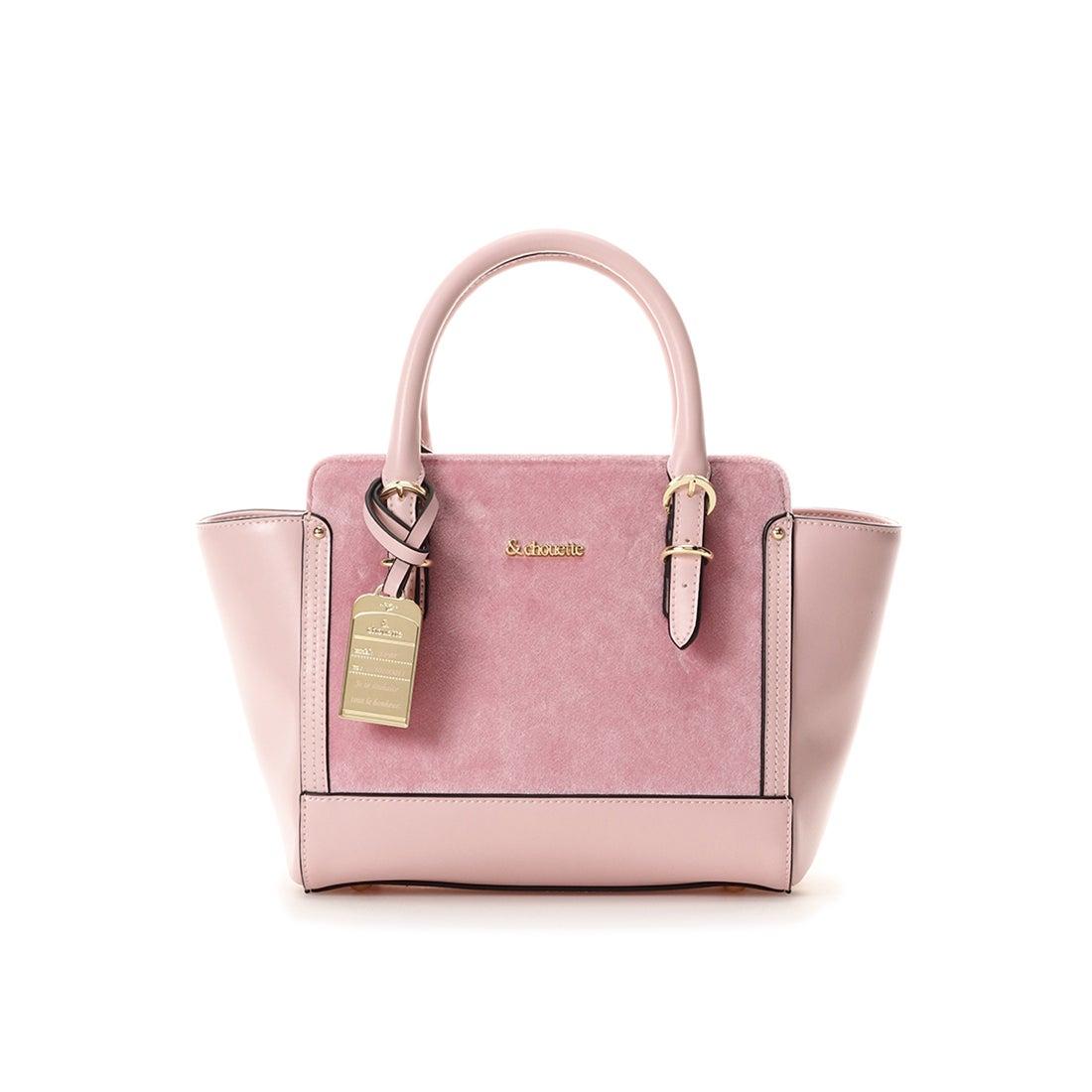 4fef950074aa & chouette &シュエット べロアハンドバッグ(S) ピンク -靴&ファッション通販 ロコンド〜自宅で試着、気軽に返品