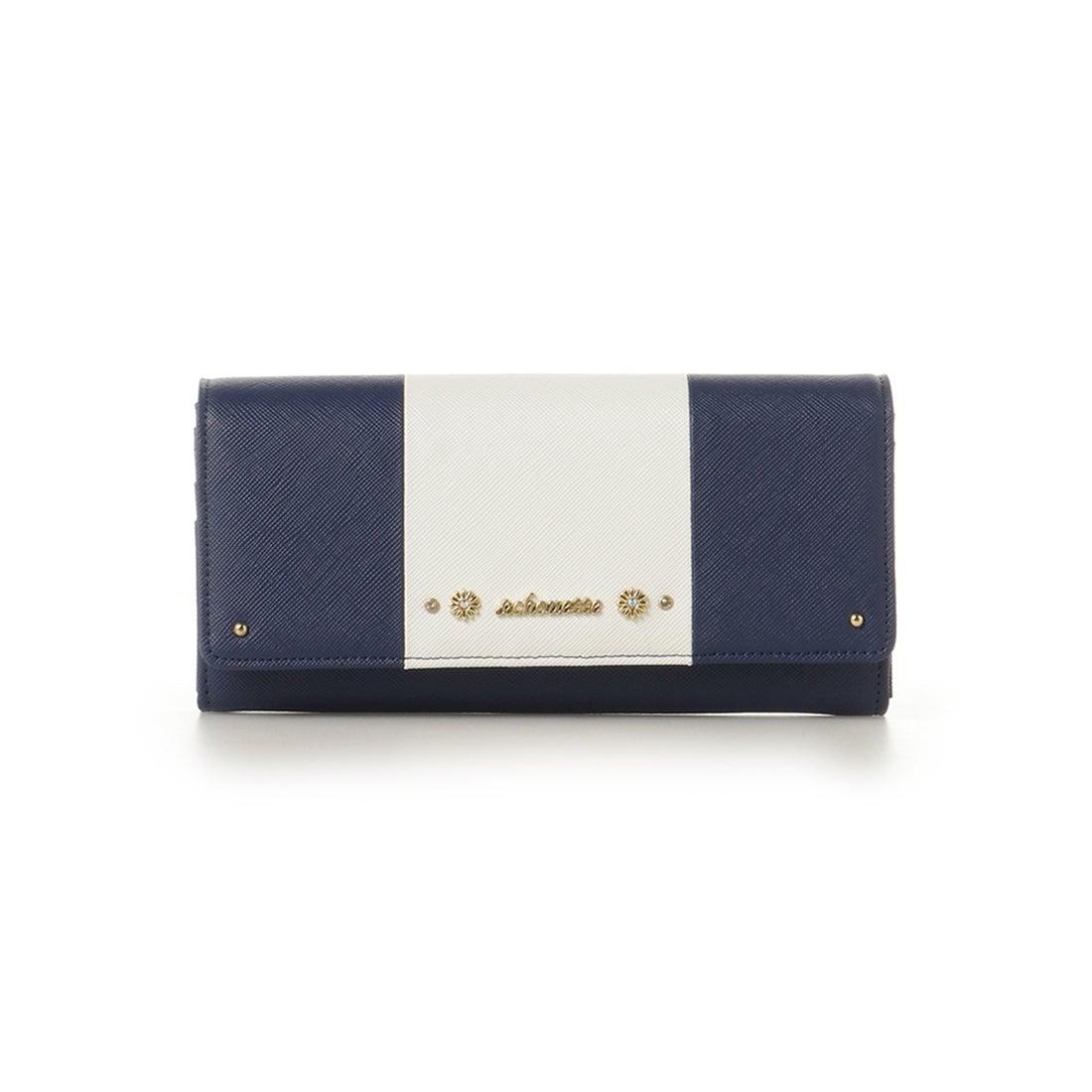 db71e298381f & chouette &シュエット バイカラーフラップ財布 ネイビー -靴&ファッション通販 ロコンド〜自宅で試着、気軽に返品
