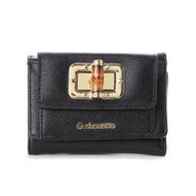 &シュエット バンブーミニ財布(ブラック)