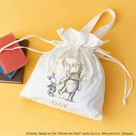 カラーズ&シュエット ディズニーコレクション「プーと大人になった僕」シリーズ くまのプーさんキャンパスバッグ(オフホワイト)