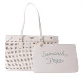 サマンサベガ クラッチ付きトートバッグ(ホワイト)