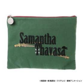 サマンサタバサ ワンピースコラボ クラッチバッグ(グリーン)
