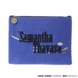 サマンサタバサ ワンピースコラボ クラッチバッグ(ブルー)