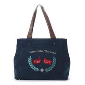 サマンサタバサ シンプルトートバッグ(ネイビー)