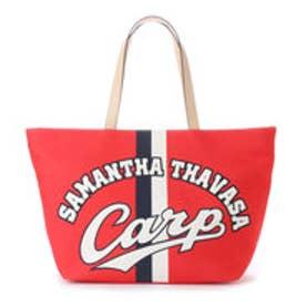 サマンサタバサ カープコラボトートバッグ(ロゴ)(レッド)