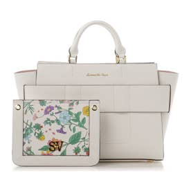 サマンサベガ 3Way花柄ポーチ付きトートバッグ(ホワイト)