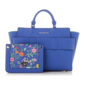 サマンサベガ 3Way花柄ポーチ付きトートバッグ(ブルー)