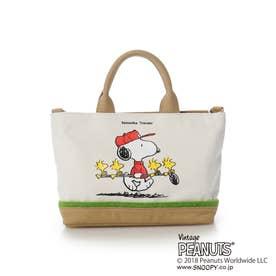 サマンサタバサ スヌーピー ゴルフデザインバッグ 小 キャメル