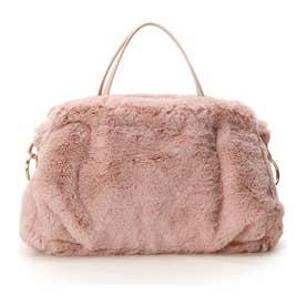 サマンサタバサデラックス リング金具付ファーバッグ(大) ピンク
