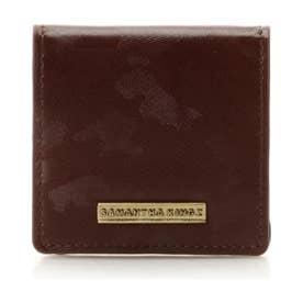 サマンサキングズ カモフラレザー BOXコインケース(ブラウン)