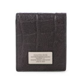 サマンサキングズ ペイズリー×クロコシリーズ(折財布)(ブラック)