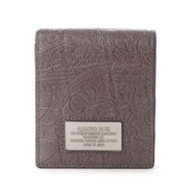 サマンサキングズ ペイズリー×クロコシリーズ(折財布)(グレー)