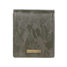サマンサキングズ カモフラレザー 折財布(カーキ)