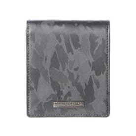 サマンサキングズ カモフラレザー 折財布(ウルトラライトグレー)