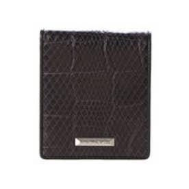 サマンサキングズ 折財布(クロコ×パイソン)(ブラック)