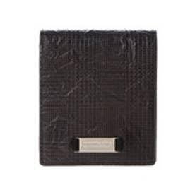 サマンサキングズ 折財布(千鳥×アルミ)(ブラック)